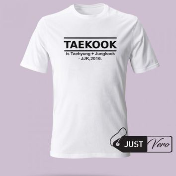 Taekook is Taehyung + Jungkook T shirt size XS - 5XL unisex for men and women