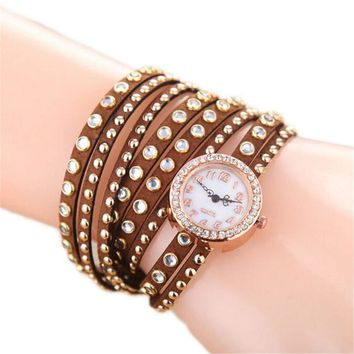 Womens Handmade Leather Strap Bracelet Watch Girls Sports Casual Watches Best Christmas Gift