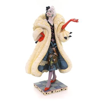 Jim Shore DEVILISH DOGNAPPER Polyresin Cruella Disney 4055440