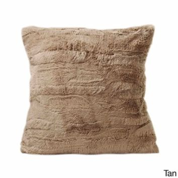 Luxe Faux-Fur 17-inch Throw Pillow - Free Shipping On Orders Over $45 - Overstock.com - 17744157 - Mobile