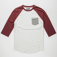 Retrofit Tri Color Mens Baseball Tee Oatmeal  In Sizes