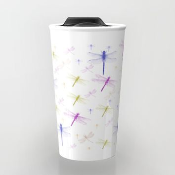 Dragonfly Pattern Travel Mug by Scott Hervieux