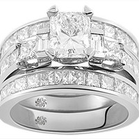 3.32 Carat Corina8 Diamond 14Kt White Gold Engagement Ring - Default