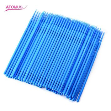 New ATOMUS 100pcs Professional Permanent Tattoo One-time Makeup Cotton Pointed Swab Cure Health Makeup Stick Pretty
