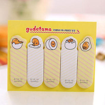 Sticky Notes Labels Memo Pad | Bookmark Cute Korean Post-It | Stationary | School Office Supplies Egg Finger-it M50