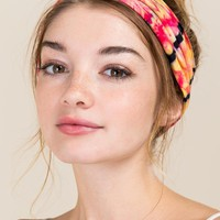 Half Boho Bandeau by Natural Life in Pink Tie Dye