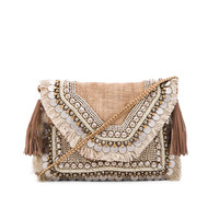 SHASHI Leela Clutch in Natural