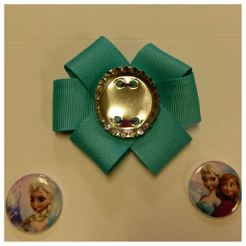 magnetic bottlecap bows with magnetic centers! 1 bow and two centers - frozen tmnt