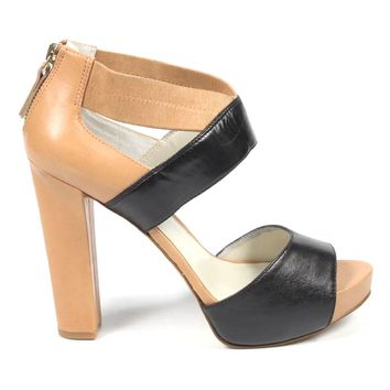 Nine West Womens Sandal Nwstylin Blk Nat Mult