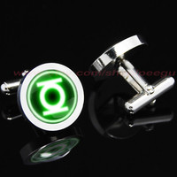 Green Lantern Mens Cufflinks,superhero Mens Cufflinks,mens gift birthday gift
