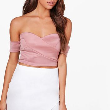 Tia Off The Shoulder Crop Top | Boohoo
