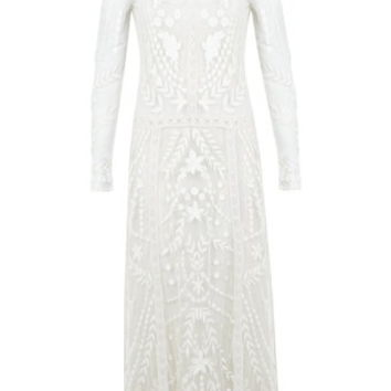 White Embroidered Maxi Dress - View All - Dress Shop