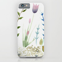 flowers and pebbles iPhone & iPod Case by Jenn Ross76