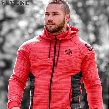 2017 New Brand Autumn Winter Bodybuilding Hoodies Men Animal Gyms Sweatshirts Long Sleeve Cotton Sportwear Fitness Pullover