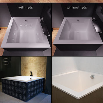 Japanese Bath | Square Bath | Japanese Style Deep Soaking Bath Tub