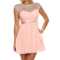 Promo-joleanne- Pink Homecoming Dress