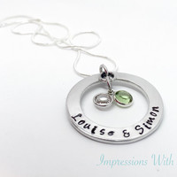 Gifts for her - personalised necklace -hand stamped jewellery - family name necklace - mothers day gift - grandmother /grandma / nanny