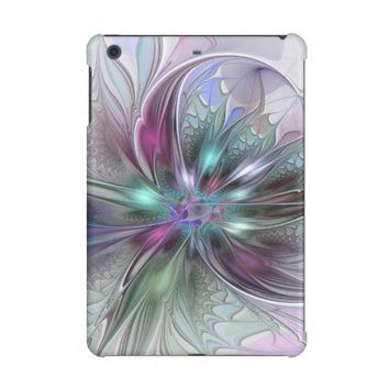 Colorful Fantasy Abstract Modern Fractal Flower iPad Mini Retina Cover