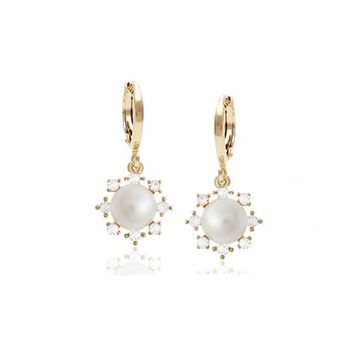 Athena Pearl Earrings with Swarovski Earrings
