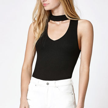 Kendall and Kylie Mock Neck Cutout Tank Top at PacSun.com