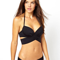 ASOS FULLER BUST Exclusive Underwired Wrap Fuller Bust Bikini Top D-F