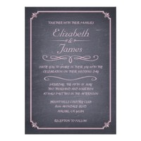 Vintage Chalkboard Wedding Invitations