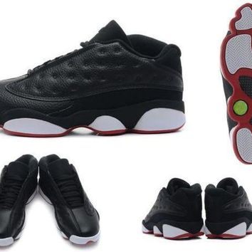 PEAPUG7 Air Jordan retro 13 low hornets bred basketball shoes sneakers XIII mens basketball sh