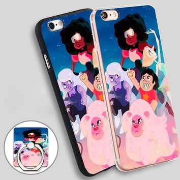steven universe  Soft TPU Silicone Phone Case Cover for iPhone 5 SE 5S 6 6S 7 Plus