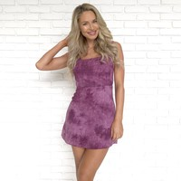 In A Day Dream Purple Tie Dye Linen Dress