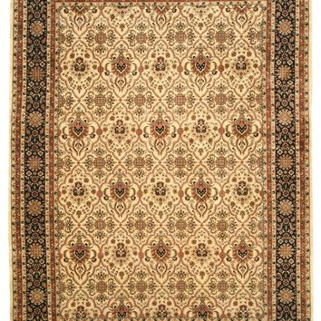 EORC Hand-knotted Wool Ivory Traditional Oriental Varamin Rug