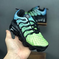 Nike Air VaporMax Plus Green Black Toddler Kid Running Shoes Child Sneakers - Best Deal Online
