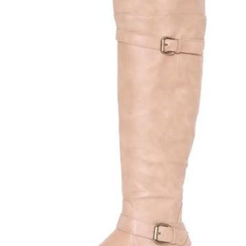 Olivia Flat Over The Knee Taupe Boot | Ball Band