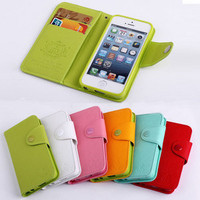 korean style Mercury Fancy Diary Envelope Wallet Cover Flip Case For iPhone 5 5G
