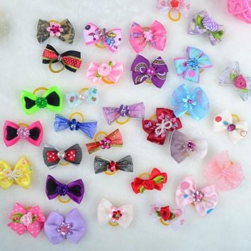 20 Pcs 50 Pcs 100 Pcs Handmade Pet Grooming Accessories Products Dog Bow Hair Little Flower Bows For Dogs Charms Gift New
