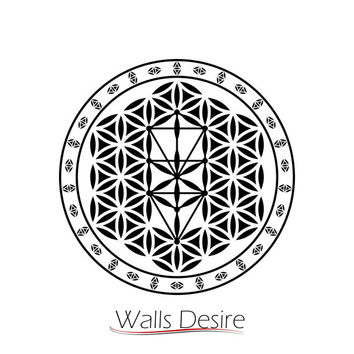 Tree Of Life, Flower Of Life Pattern,Decorated, Flower Of Life, vinyl decal, J00100.