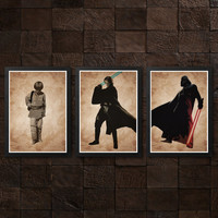 Star Wars Anakin Skywalker Darth Vader Poster Set / Print High Quality 225gr Coated Paper (Special Design)