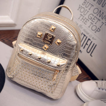 Back To School Comfort College Hot Deal On Sale Bags Korean Mini Casual Rivet Stylish Backpack [6580920007]