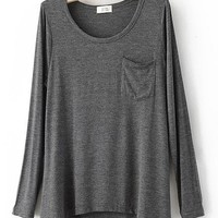 # Free Shipping # Dark Grey Loose Women Cotton Tops One Size QZ0008dg from ViwaFashion