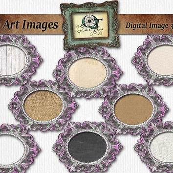 Vintage Ornate Frame | png images with transparent background, high resolution 300 dpi, Multi Choice DYI Logo Antique Cottage Chic Frame