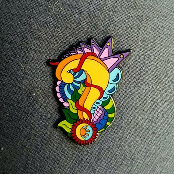 Tipper Psychedelic Sun Question Mark Hatpin