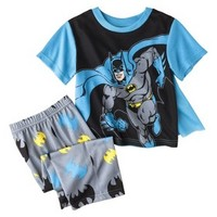 Batman Toddler Boys' 2-Piece Short-Sleeve Pajama Set w/ Cape