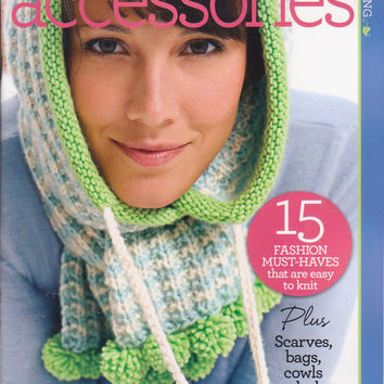 Knit Accessories book by Go Crafty 15 patterns for fashion must-haves for the adventurous beginner scarves, bags, cowls, hats, mittens