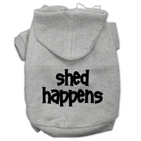Shed Happens Screen Print Pet Hoodies Grey Size Med (12)