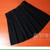 Black japanese uniform kawaii pleated tennis skirt • Shy Lolita • Tictail