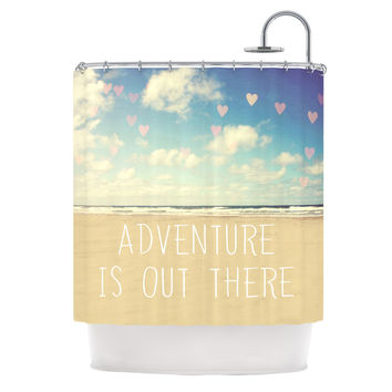 "Sylvia Cook ""Adventure is Out There"" Shower Curtain"
