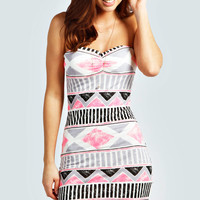 Lola Aztec Bandeau Dress