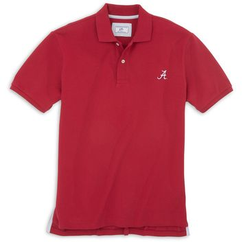 University of Alabama Gameday Skipjack Polo in Crimson by Southern Tide