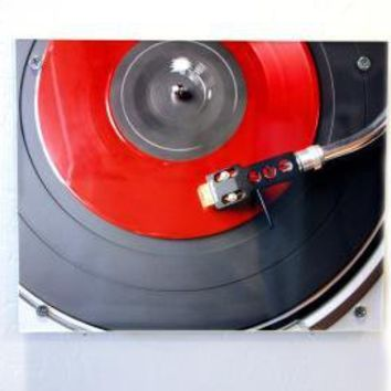 Giant Coaster Table & Wall Art Retro Red Vinyl by blueorder