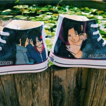 DCKL9 naruto manga handpainted shoes converse Custom one of a kind canvas