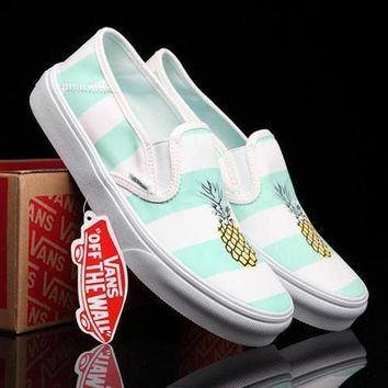 Vans Canvas Old Skool Pineapple Print Flats Sneakers Sport Shoes